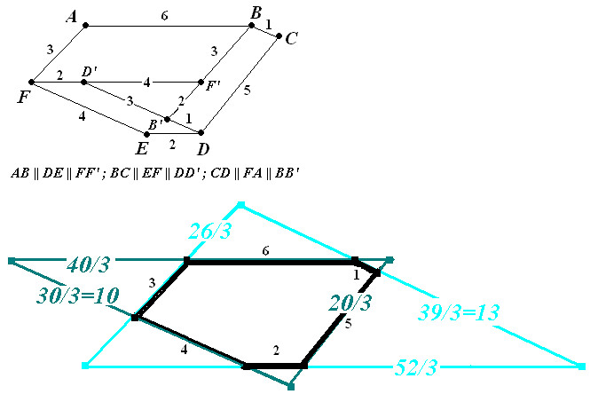 Drawing Parallel Lines With Triangles : Hexagon with parallel opposite sides yahoo answers