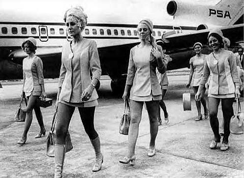 Air Hostesses on Duty