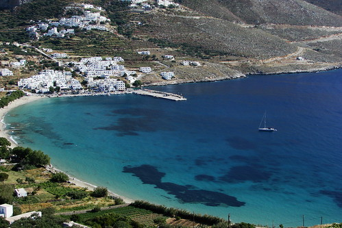 PORT OF AIGIALI,AMORGOS ISLAND GREECE