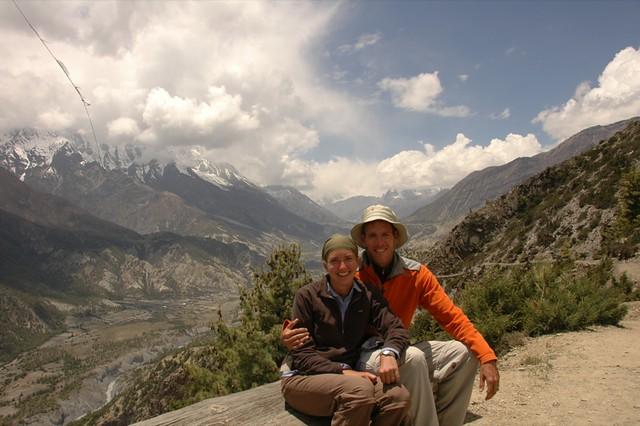 Audrey and Dan at Ghyaru - Annapurna, Nepal