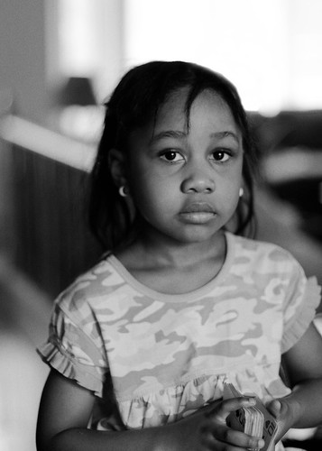 portrait bw girl canon cards child amaka 40d