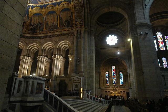 Interior de la Basílica, muy cuidado. Sacré Coeur, el balcón más bello de París - 2668500845 c6e23d0bc4 z - Sacré Coeur, el balcón más bello de París