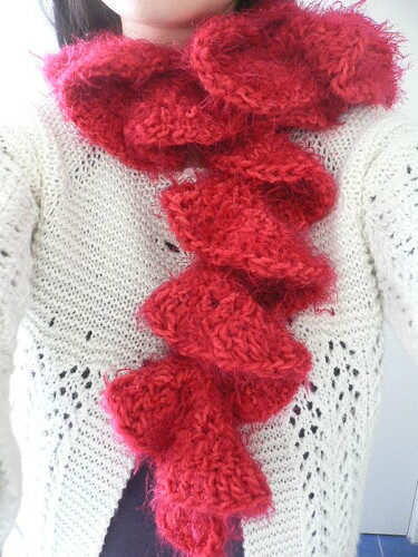 Knitted Christmas Bells Patterns : Ruffle scarf Pattern by Caron International (free pattern,? Flickr - Phot...