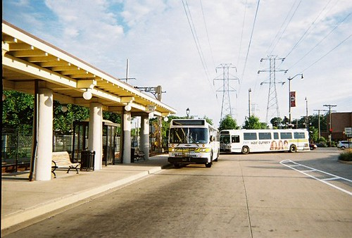 Suburban Pace buses at the CTA Dempster Street terminal. Skokie Illinois. July 2008. by Eddie from Chicago