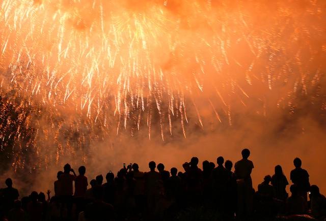 多摩川花火大会2008