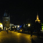 Strolling along the Charles Bridge, Prague, Czech Republic