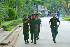 Girls in uniform in Lumphini Park