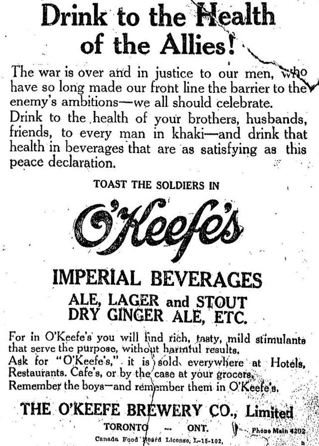 Vintage Ad #657: Drink to the Health of the Allies!