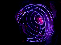 spiral, fractal art, purple, light, neon, darkness,