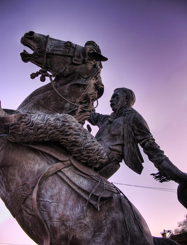 arizona statue bronze cowboy downtown az rodeo hdr prescott picoftheday