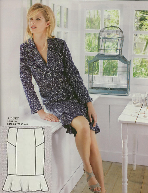Burda-March-2014 Boucle Skirt