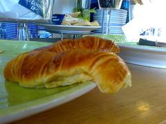 brioche(0.0), meal(1.0), bread(1.0), baked goods(1.0), food(1.0), dish(1.0), dessert(1.0), croissant(1.0),