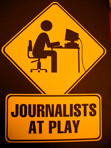 journalists at play