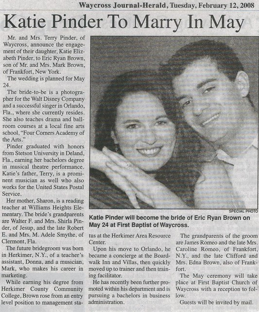 Engagement clipping flickr photo sharing for Wedding announcement ideas for newspaper