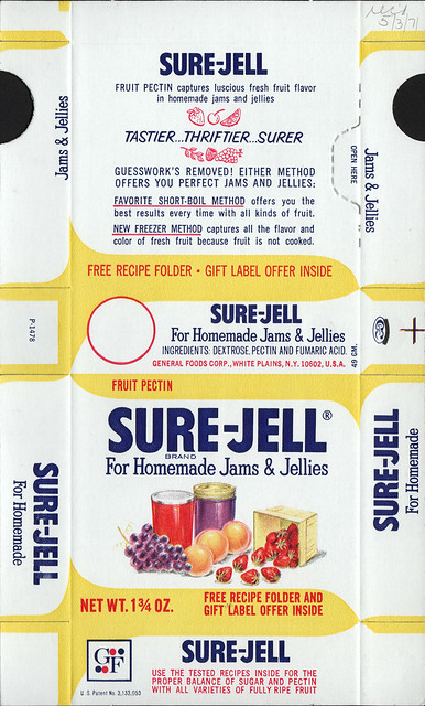 General foods sure jell fruit pectin box file flat may 3 for Pectine cuisine