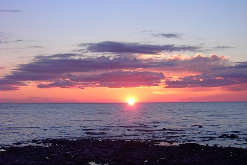 Sunset on Lake Michigan from Cross Village, Michigan