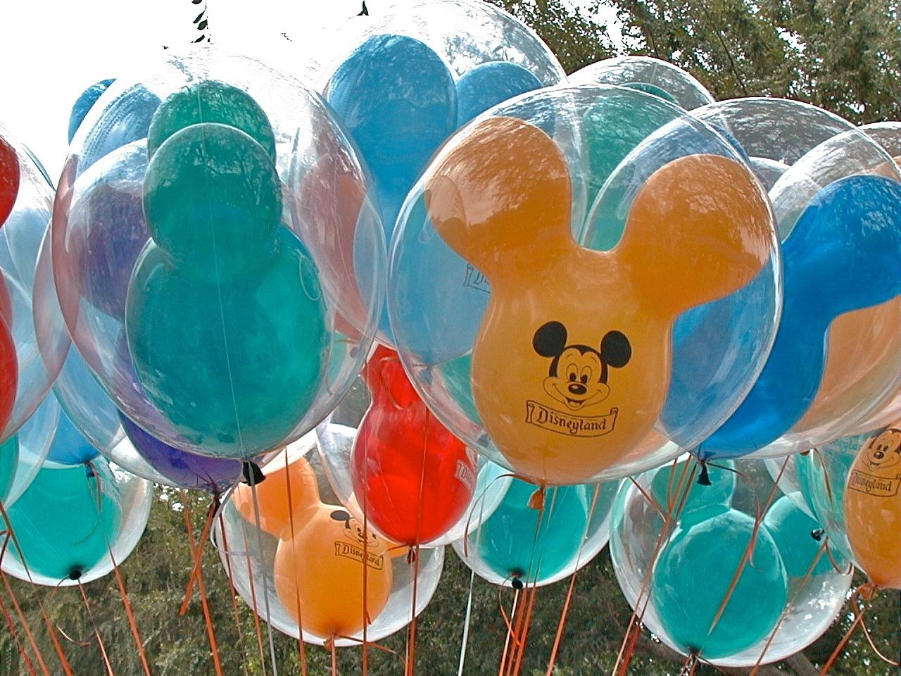 Mickey Mouse Balloons on Main Street Disneyland - a photo on