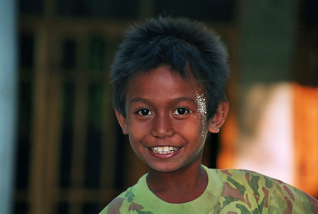 A smiling boy in Indonesia.