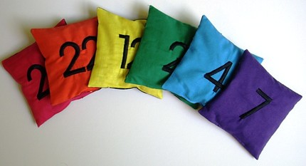 Count and Spell Color Recognition Beanbags - NUMBERS