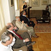 Paul Auster, Salman Rushdie and Amos Oz listening to Shimon Peres