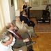 Paul Auster, Salman Rushdie and Amos Oz listening to Shimon Peres