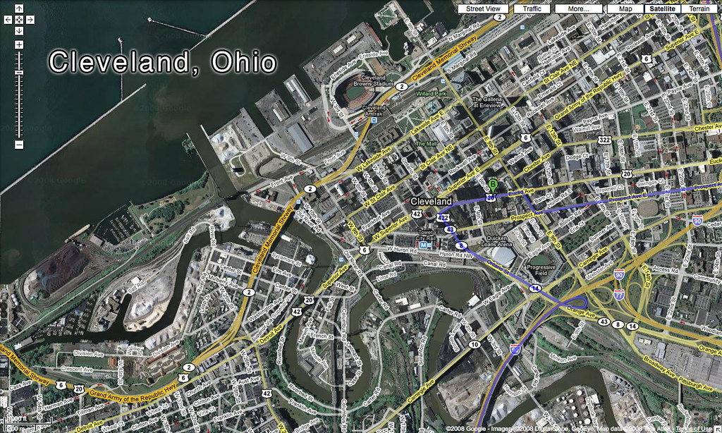 Cleveland Map | We stayed in downtown Cleveland for a few da ...