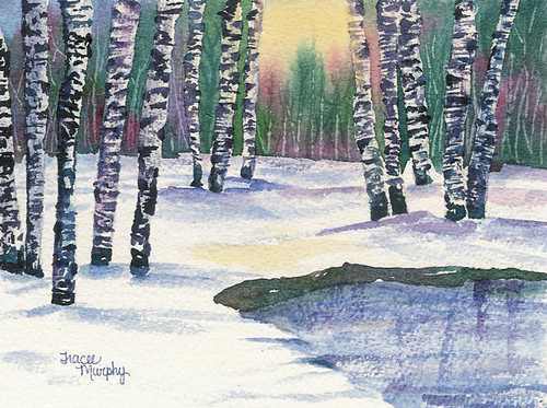 Winter Landscape Birch Trees