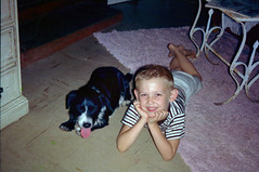 Me & George, the neighbor's dog, 1965