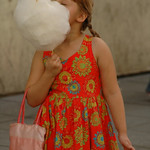 Child with Cotton Candy - Vilnius, Lithuania
