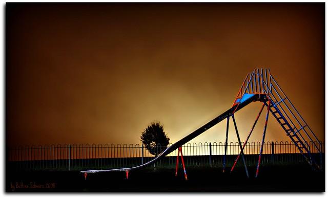 night-time playground