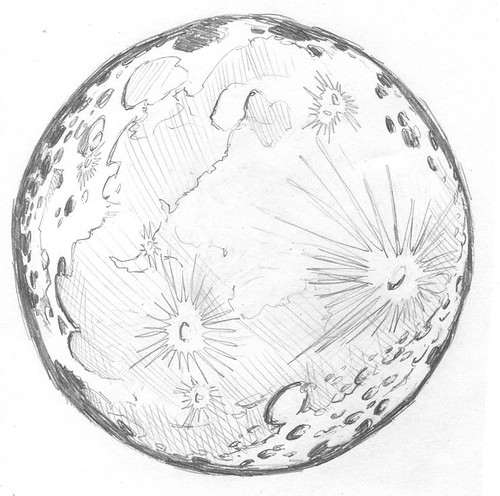 how to draw a simple full moon