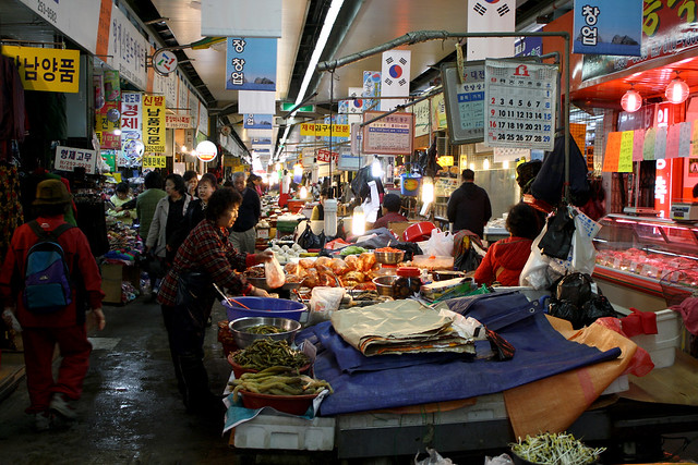Traditional South Korean Market