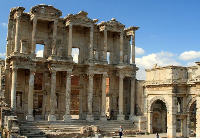 Library of Celsus next to the entrance to the agora, Ephesus, Turkey