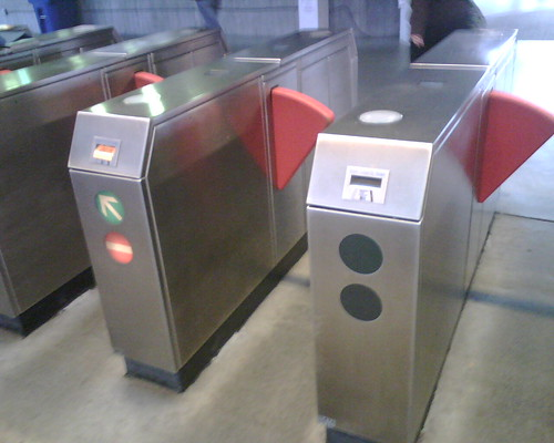 20081212 2 x Fare Gates Out at Concord
