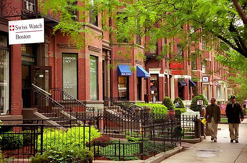 Boston - Newbury Street Brownstones