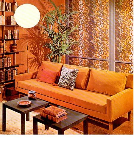 1960s Living Room : 1960s orange living room  Flickr - Photo Sharing!