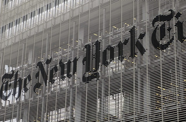 NYT building sign