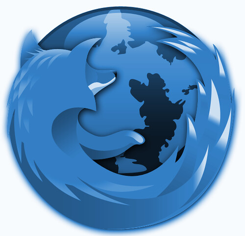 blue firefox logo