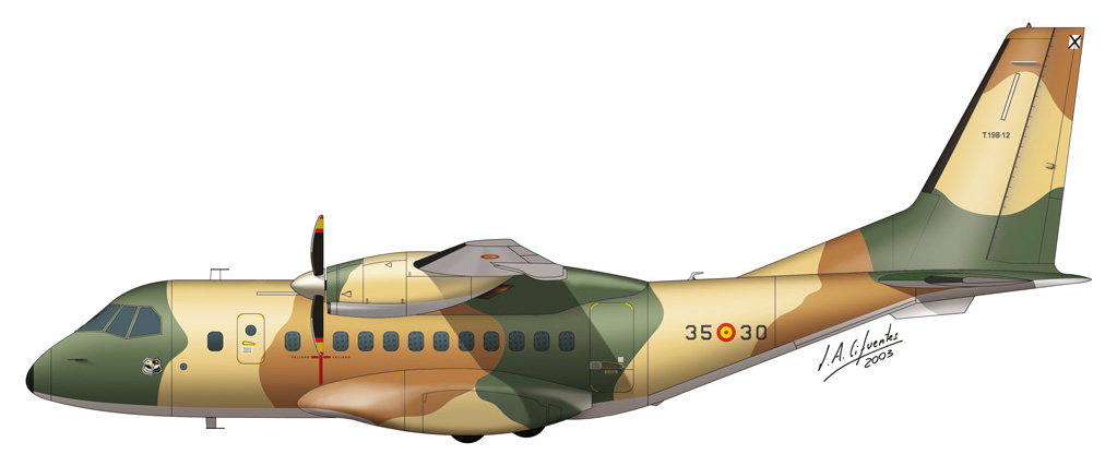 CN-235 Ala 35 lagarto