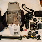 Lowepro Slingshot 200 AW camera bag - contents