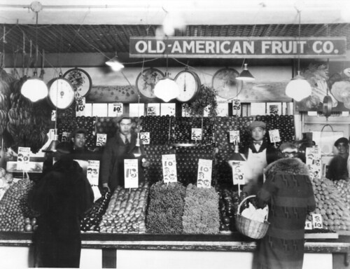 Produce stall at Pike Place Market, 1939