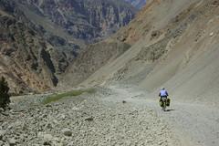 Nancy riding Chuquicara to Yuracmarca