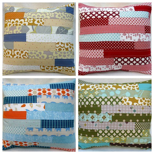 { custom } brick patchwork pillow cover