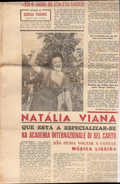 Cartaz, Natália Viana, July 28 1953