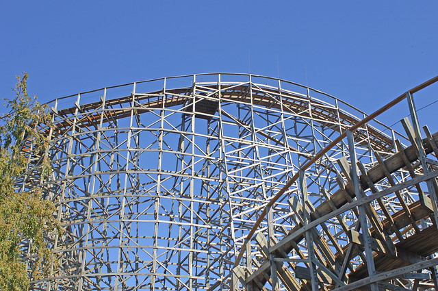Busch Gardens Wooden Roller Coaster Shot Two Flickr Photo Sharing