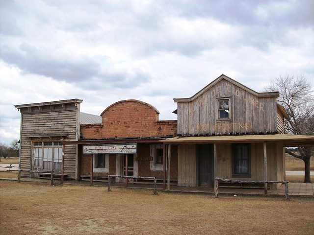Three Buildings Lined Up Along Main Street At The