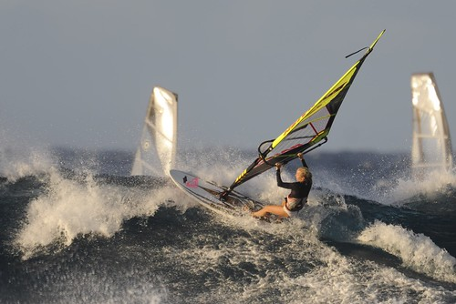 ocean women surf waves maui windsurfing hookipabeach