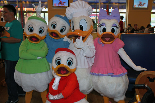 Chef Donald with Daisy and his Nephews