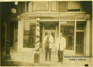 Hazard Halsted Barber Shop in Lightner building, undated