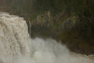 Snoqualmie Falls near flood stage